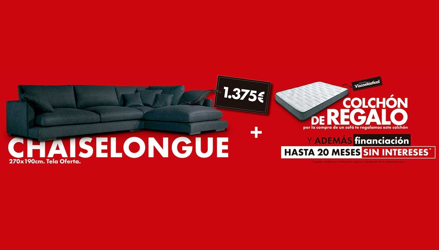 Pack chaiselongue + colchón de regalo